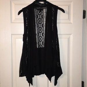 Black and Lace Vest